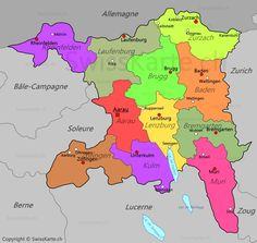 Carte du canton de Glaris CH Pinterest