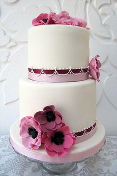 Purple, fuchsia, and flowers. Rosalind Miller Cakes.