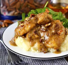 Maple Bourbon Pecan Chicken is sinfully delicious - you will lick your plate clean! This gluten-free dinner recipe is ready in just 20 minutes. Pecan Chicken, Bourbon Chicken, Bratwurst, Gluten Free Recipes For Dinner, Dinner Recipes, Dinner Ideas, Sausage And Peppers, Stuffed Peppers, Parmesan