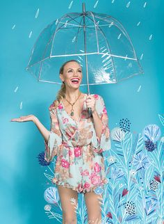 Floral romper, $59.99, Blu Dulce in Winter Park. Sequin bra, $82, and labradorite necklace, $158, Tuni in Winter Park.  Floral Fantasy - Orlando Magazine - April 2016 - Orlando, FL