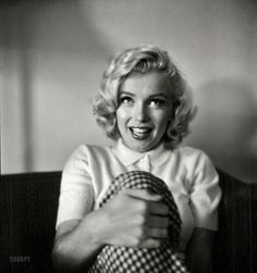 Marilyn Monroe in 1953 at the Banff Springs Hotel while in Canada to film River of No Return. Photo by John Vachon for Look magazine.
