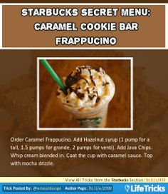 Starbucks Secret Menu: Caramel Cookie Bar Frappuccino