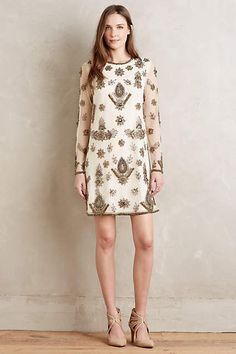 Embroidered Nieve Shift - anthropologie.com