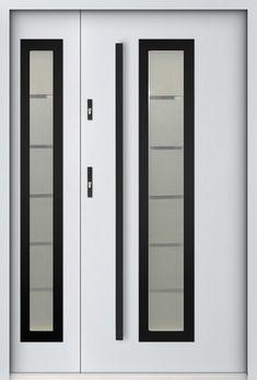 porte d entrée sécurisée | porte entree double | porte d entrée double | porte double vantaux Winchester, Double Front Entry Doors, Glazed Doors, 5 W, Side Panels, Locker Storage, Furniture, Home Decor, Skylight