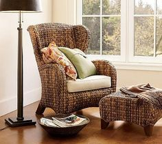 Seagrass Wingback Chair from Pottery