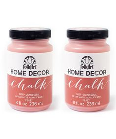 Look what I found on #zulily! Salmon Coral 8-Oz. Chalk Paint - Set of Two #zulilyfinds