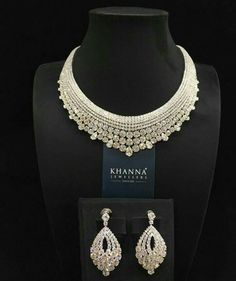 Diamond Jewelry, Lotus Jewelry, Diamond Design, Bridal Looks, Indian Bridal, Bridal Jewelry, Crochet Necklace, Men's Jewellery, Designer Jewellery