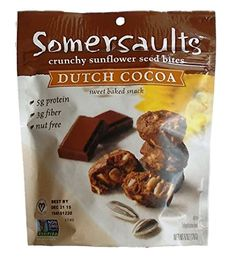 Somersaults Nut Free 100 Natural Sunflower Seed Snacks Dutch Cocoa Crunchy Nuggets  Pack of 3 6 Oz Ea *** Want to know more, click on the image.