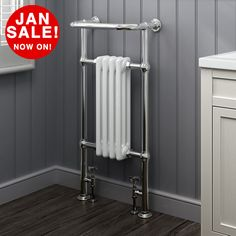 Our traditional towel rail radiators feature a 4 column cast iron radiator, with low carbon steel surround and angled top rail (for towels), finished in chrome to give a long lasting mirror finish. Traditional heated Towel Rail Radiator. | eBay!
