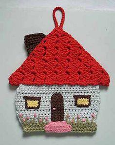 motleycraft-o-rama:  Ravelry: Honeymoon cottage potholder pattern by Lily Mills Company