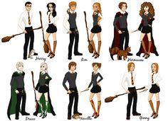Harry Potter gender bender, really love Draco and Neville. Fanart Harry Potter, Harry Potter Comics, Saga Harry Potter, Harry Potter Draco Malfoy, Harry Potter Cosplay, Harry Potter Characters, Harry Potter Books, Harry Potter Love, Harry Potter Memes