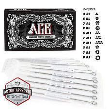 100pcs Sterilized Disposable Body Piercing Needles Stainless Steel Medical Tattoo Needles For Navel Ear Nose Lip Tattoo Needle Smoothing Circulation And Stopping Pains Tattoo & Body Art