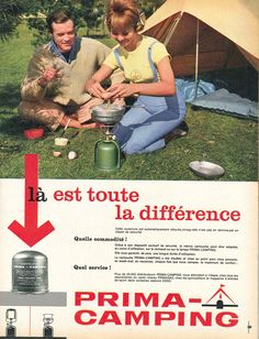 Cartouche Prima-Camping (Primagaz) - Paris Match, 5 mai 1962