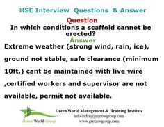 Safety officer interview question and answer www.greenworldsaudi.com