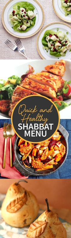 Check out our new Quick and Healthy Shabbat Menu, you'll find four new and delicious recipes everyone will love! http://www.joyofkosher.com/2017/01/quick-and-healthy-shabbat-menu/