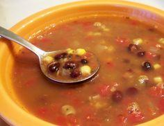 Sweet Southwestern Black Bean Soup