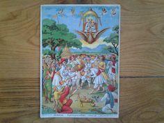 Original antique rare authentic Raja Ravi Varma by Lallibhai, £45.00