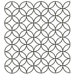 """SASHIKO DESIGN STENCILS  Cut on 12 mil plastic with hanging holes for easy use and storage. Seven Treasures - 12"""" x 12""""  2"""" Circles - 5cm  $6.50"""