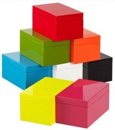 Medium Lacquered Rectangular Box by The Container Store - modern - storage boxes - - by The Container Store Modern Storage Boxes, Small Storage, Container Store, Closet Organization, Storage Closets, Organization Station, Laundry Storage, Storage Bins, Diy Storage