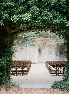 50 Shades of Greyed Jade Wedding Ideas - wedding ceremony idea; Venue: Sand Rock Farm Bed and Breakfast via Once Wed