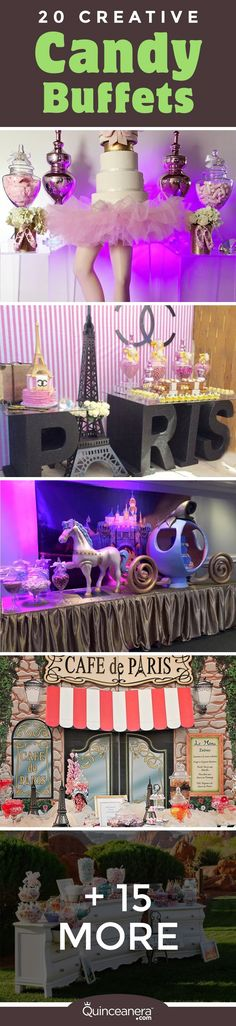 Get inspired by the top 20 candy buffets that were designed to drop jaws! - See more at: http://www.quinceanera.com/decorations-themes/20-most-creative-candy-buffets-youve-ever-seen/?utm_source=pinterest&utm_medium=social&utm_campaign=decorations-themes-20-most-creative-candy-buffets-youve-ever-seen#sthash.oYa7nSsY.dpuf