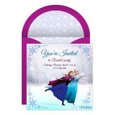 Frozen Online Party Invitation