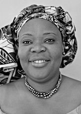 """Leymah Gbowee-The Nobel Peace Prize 2011 was awarded jointly to Ellen Johnson Sirleaf, Leymah Gbowee and Tawakkol Karman """"for their non-violent struggle for the safety of women and for women's rights to full participation in peace-building work""""."""
