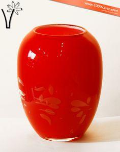 Tischvase Vera Rot