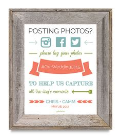 Free Wedding Hashtag Sign Printable From Offbeatbride Diy Pins Bells