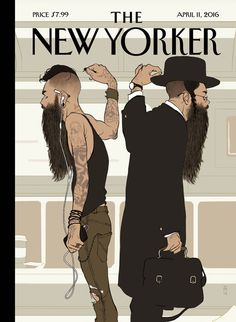 """Cover Story: Tomer Hanuka's """"Take the L Train"""" - The New Yorker"""