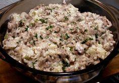 """HAMBURGER GRAVY AND MASHED """"POTATOES"""" - Linda's Low Carb Menus & Recipes"""