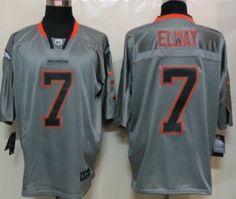Nike Denver Broncos #7 John Elway Lights Out Gray Elite Jersey