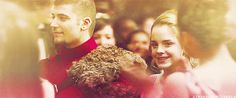 Viktor Krum & Hermione Granger. I love this part because Hermione was beautiful inside and out and this helped her feel it too. She deserved to know how incredible she was.