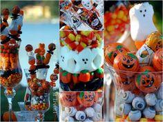 Halloween Centerpiece using candy