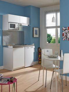 Ultra fonctionnelle, cette kitchenette est idéale pour un studio