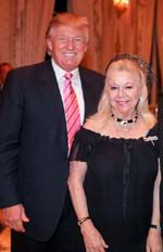 Donald Trump, Arlette Gordon.  Photo courtesy of Food For The Poor