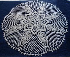 Hand crochet beautiful doily. Diameter about 26 (66 cm). Radius 13 (33cm) Natural (beige or you can call it ecru) color. Made from mercerized cotton thread. Will be adorable decoration for your home and look great on any table. Perfect as a gift or just to treat yourself. Care: Hand wash