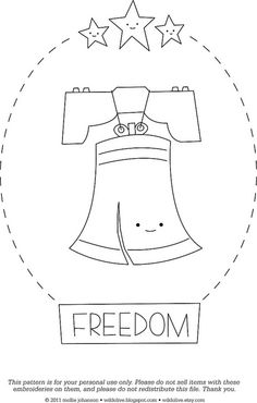 Freedom by wildolive, via Flickr. I'm using these as coloring pages.