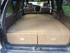 This DIY tutorial shows you how to get more organized with your and build a custom sleeping and storage area for road trips, camping and more. Would work for the forester. Auto Camping, Truck Camping, Camping Gear, Camping Hacks, Camping Cabins, Minivan Camping, Pickup Camping, Backpacking Tent, Camping Spots