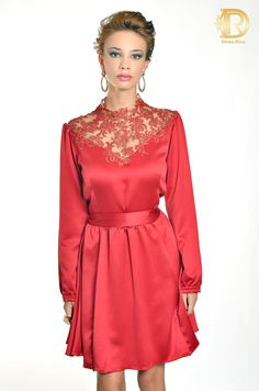 Pat bo by Dona Rica vestido red luxo