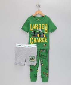 For Wesley HAHA! 'Large and in Charge' Pajama Set - Toddler & Boys by John Deere on #zulily today!