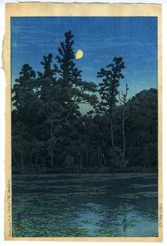 川瀬巴水(かわせはすい) - 三宝寺池(石神井) - 新版画販売 - 浮世絵ぎゃらりい秋華洞