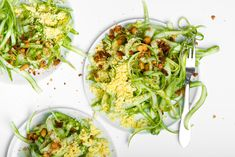 Shaved Asparagus Salad with Shallot Vinaigrette & Eggs Mimosa Recipe