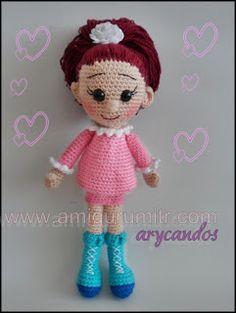amigurumi örme oyuncaklar: amigurumi free pattern doll