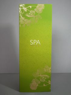 IM London | spa communications design | spa brochure design | spa product menu…