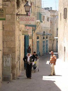 Street scene in Bethlehem, West Bank.   #Cheapflights2013