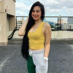 Cute Youtubers, Filipino Girl, Cute Panda Wallpaper, Text On Photo, Cute Girl Face, Cute Actors, Cute Girls, Bali, White Shorts