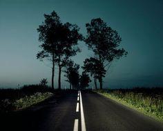 Szymon Roginski Poland, Mona Lisa, Country Roads, Night, Photography, Lonely, Beauty, Fotografia, Photograph