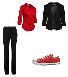"""""""Red business converse"""" by r-m-teitter on Polyvore"""