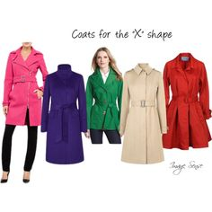"""""""Coats for the """"X"""" body shape"""" by imagesense on Polyvore"""